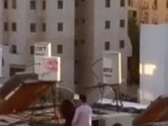 Israeli fuck on roof