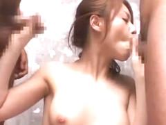 Amazing Japanese chick Akiho Yoshizawa in Crazy Gangbang, Facial JAV movie