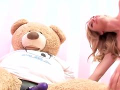 Hottest pornstar Brett Rossi in crazy dildos/toys, masturbation porn scene