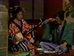 Free Japanese porn  shows a geisha fucking