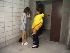 Japanese whores sucking and fucking in public places