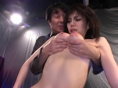 Big-titted Japan gal fucks and gets facial