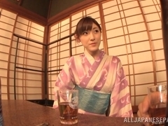 Kanako Iioka amateur hot Asian milf in kimono uses sex toys
