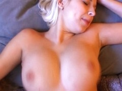Non-Professional blond Czech doxy team-fucked in swap for specie