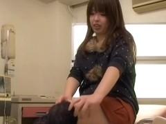 Perfect Japanese creampied during medical examination