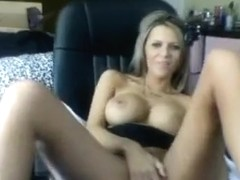 JordanLane fucks herself in the chair with dildo