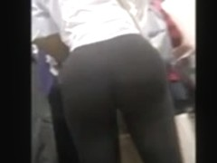 Amazing ass in black pants