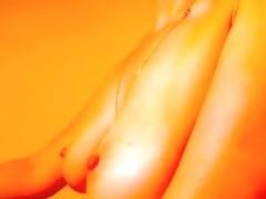 Soliel masturbates in front of webcam