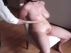 Tied up BBW serf on the chair