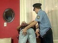 RaunchyTwinks Video: Pervert Cop Fucks Thief's Ass