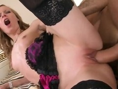 Gitta Blond sucking off a massive cock.