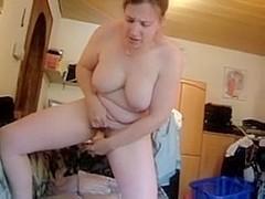 german wife standing orgasm