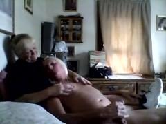 Sissy Husband Masturbates in Wife's arms