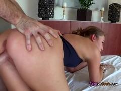 Big Cock Dominates Charlis Tight Teen Pussy