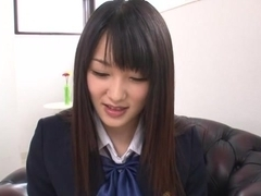 Nana Usami naughty Asiaan teen in school uniform creampied