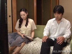 Nami Horikawa hot housewife sucks cock and fucks for creamed pussy