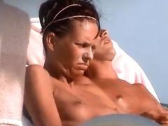 incredible french girl tunesia topless beach