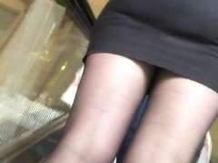 nice and sexy girl black skirt