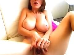Stunning busty solo webcam model
