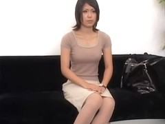 Curvy Jap nailed hard in spy cam interview sex video