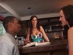 Horny pornstars Syren De Mer and Jada Stevens in crazy threesome, big tits xxx clip