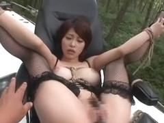 Hottest Japanese chick Saki Ootsuka in Exotic Masturbation/Onanii, Stockings/Pansuto JAV scene
