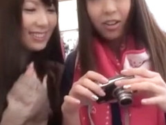 Horny Japanese chick Sae Aihara, Yui Hatano in Exotic Outdoor JAV movie