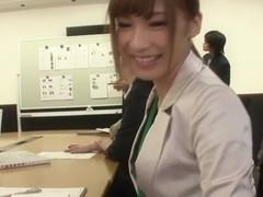 Fabulous Japanese model Anna Anjo in Exotic office, stockings JAV video