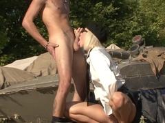Incredible pornstar in hottest outdoor, blonde adult video
