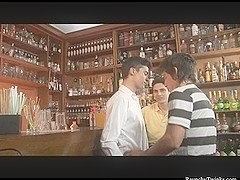 RaunchyTwinks Video: Bar Threesome