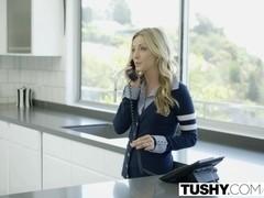 TUSHY Step ###ters Karla Kush and Zoey Monroe First Anal
