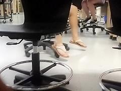 girl girl feet in class ( Tori ) pt2