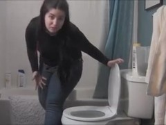 VS blue jeans toilet fart