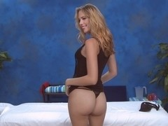 Blonde babe spreading and sucking