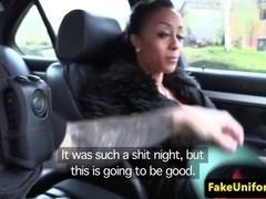 Ebony amateur public fucked by real cop