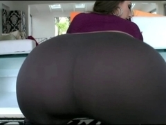 Hot Large Arse White Cutie In Taut Panties Fucking BBC!!!
