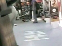 Non-nude voyeur video of sexy girls walking around a mall