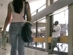 A splendid piece of ass in a street candid video