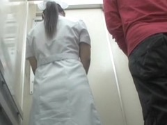 Japanese sharking performed by lewd man in the lift