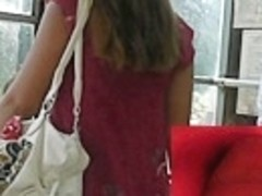 Darksome strap panty up pink summer costume