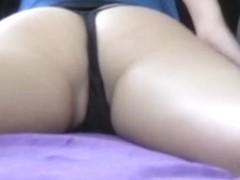 Hawt dilettante friend shaking her butt on livecam