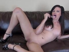 Fabulous pornstar Annika Amour in Horny Masturbation, Brunette sex scene