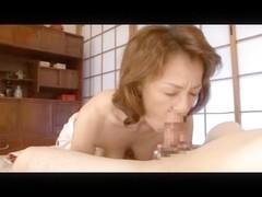 Sexy Asian Mature hottie sucks a dick like a whore