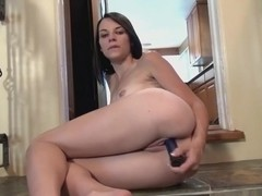 Chloe Love fucks her shaved pussy with a toy for us