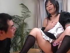 Horny Japanese girl in Best JAV uncensored Stockings scene