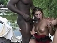 Outstanding Interracial Foot xxx video