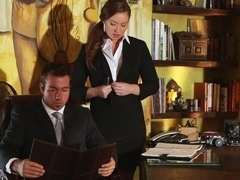 Horny secretary Maddy O'Reilly