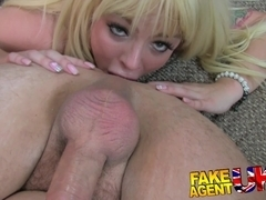 Glamour model turns cock jockey in fake casting