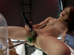 Incredible fetish adult scene with horny pornstar Sensi Pearl from Fuckingmachines