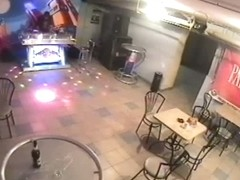 Candid porn video of lewd chick penetrated on the cafe table